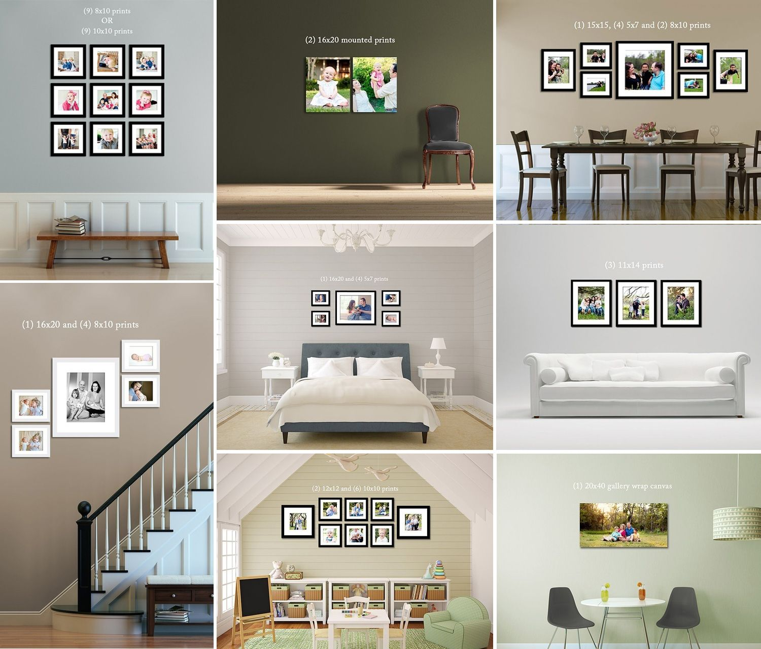 frames on wall ideas | prints-canvas-frames-on-wall-example | should ...