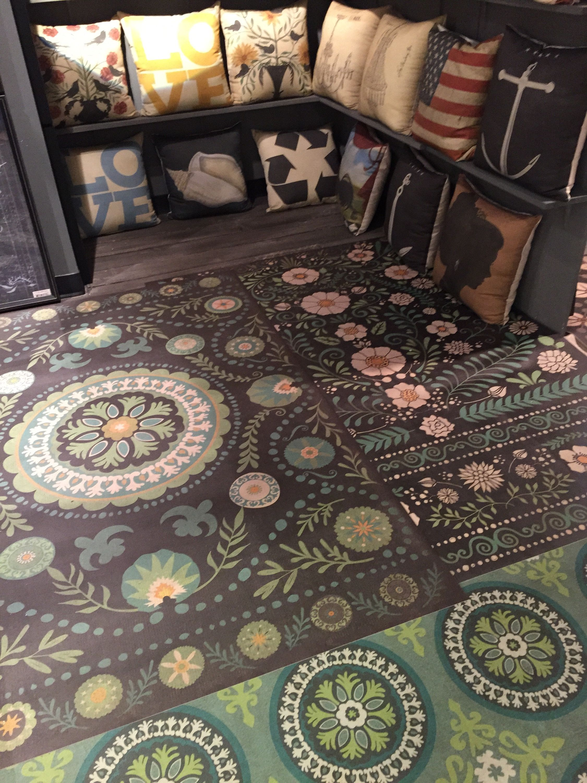 Spicher and company innovative vinyl floorcloths at americasmart rug news anddesign magazine