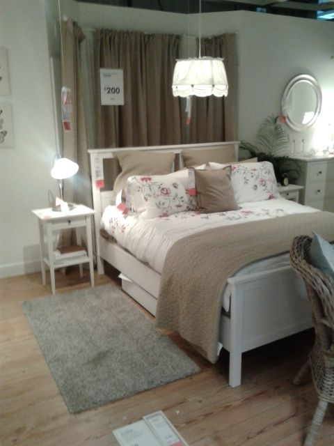 Ikea Hemnes bed Ikea bedroom | sypialnia | Pinterest | Ikea bedroom ...