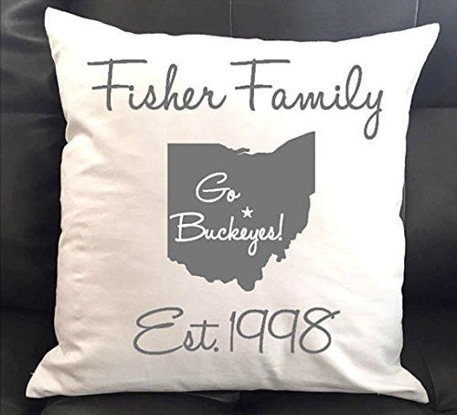 Personalized The Ohio State University Throw Pillow 16x16 Dream Life Decor Lets You Add Items