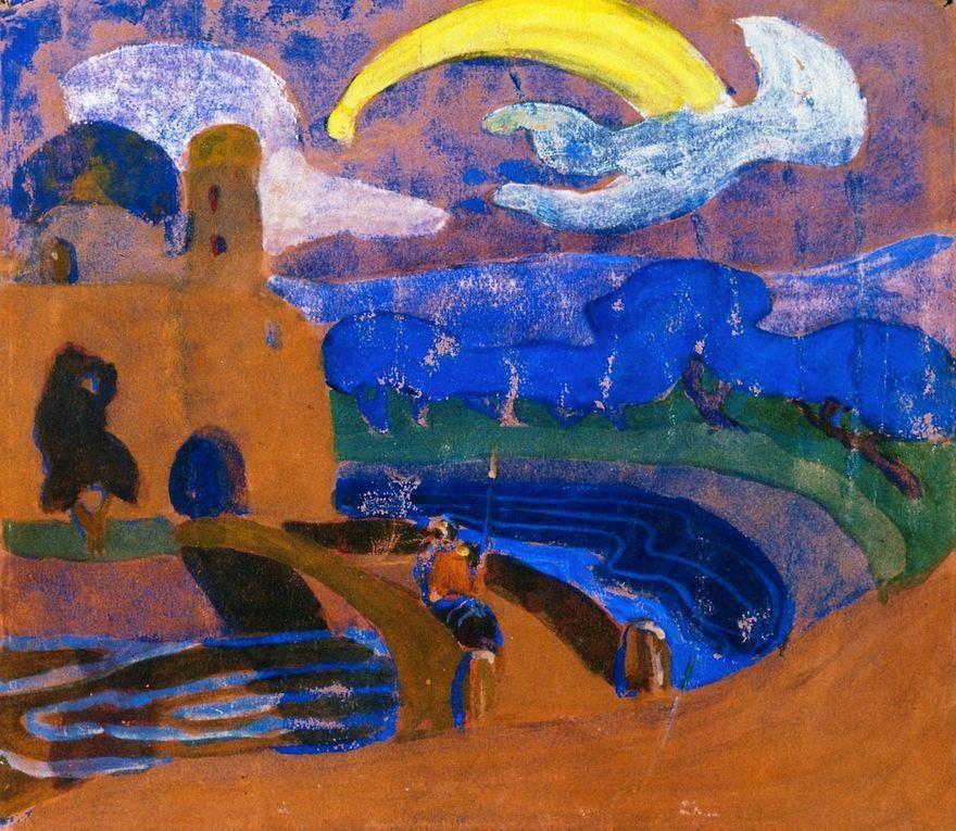 The Comet Night Rider Wassily Kandinsky 1900 Fresco Stadtische Galerie Im Lenbachhaus Munchen De Kandinsky Art Kandinsky Art