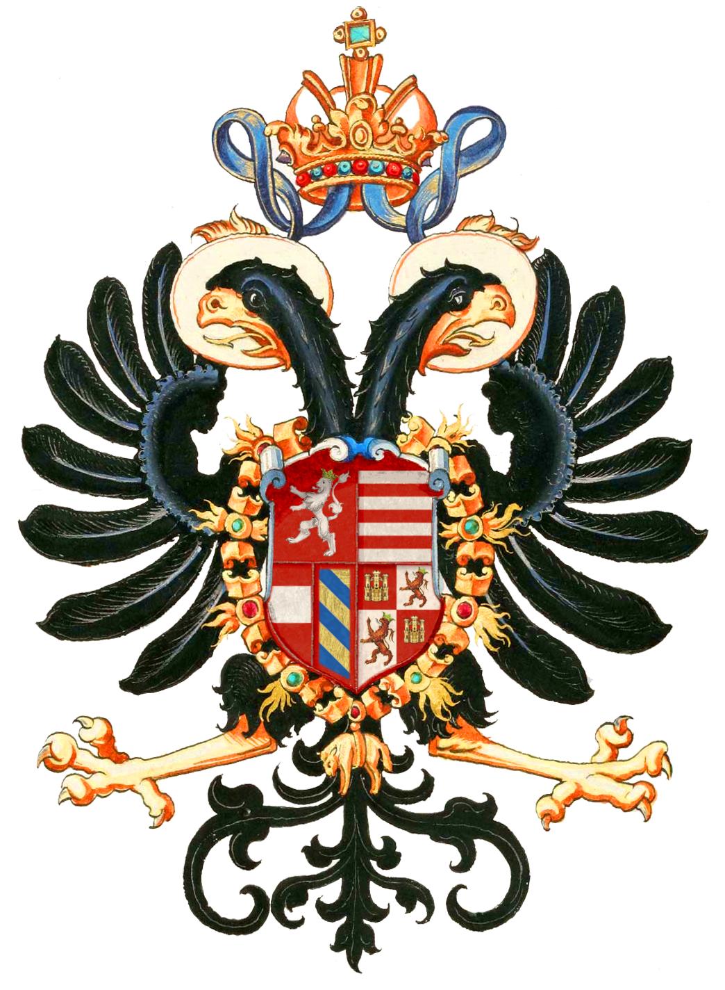 Coat Of Arms Of Rudolf Ii Holy Roman Emperor Heraldry Pinterest