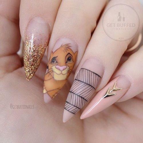 Imagine Disney Lion King And Nails Nail Swag Pinterest