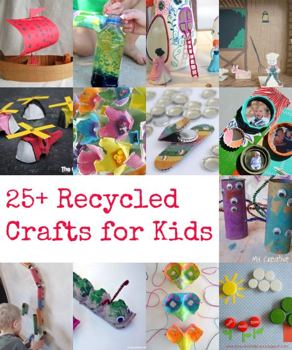 25 recycled crafts for kids craft collection and for Cool recycling projects