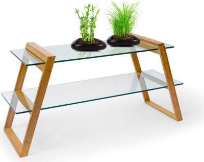 Glastisch Wohnzimmer ~ Relaxdays bambus glastisch mukai groß jetzt bestellen unter