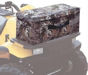 This Hi-Capacity ATV Pack fits most ATV front and rear racks perfectly. The spacious compartment is padded and lined with a heavy duty RF-welded liner to protect your gear or keep food and drinks cold. Equipped with storm flaps to keep moisture from seeping through the zippers and deluxe quiet-riding zipper pulls. Stays secured to ATV racks with 7 pair of durable straps and ladder lock buckles. $81.35
