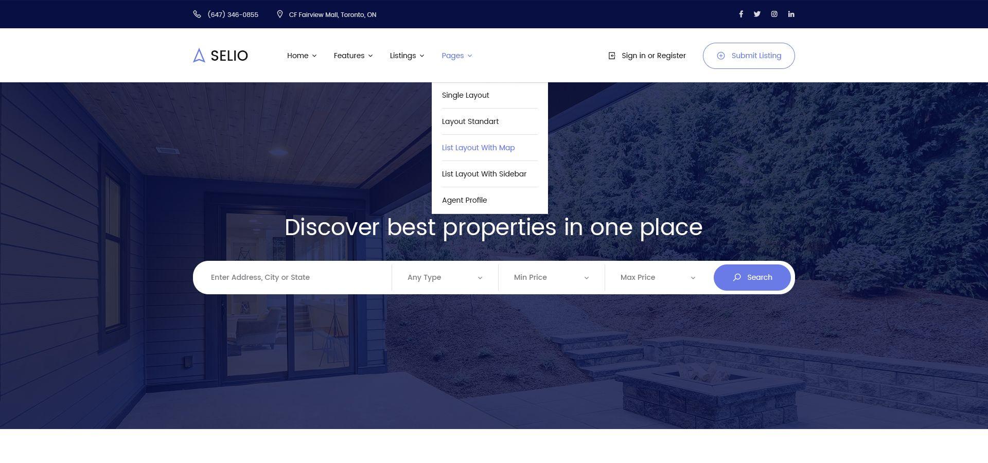 Selio - Real Estate PSD Template #Real, #Selio, #Estate, #Template