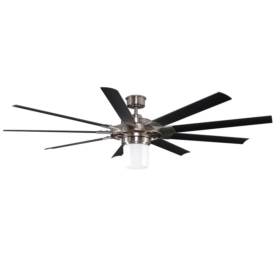 Large Indoor Ceiling Fans Part - 21: Shop Harbor Breeze 72-in Slinger Helicopter Brushed Nickel Ceiling Fan With  Light Kit And