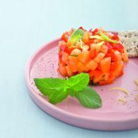 Antipasto di melone e peperoni alla menta
