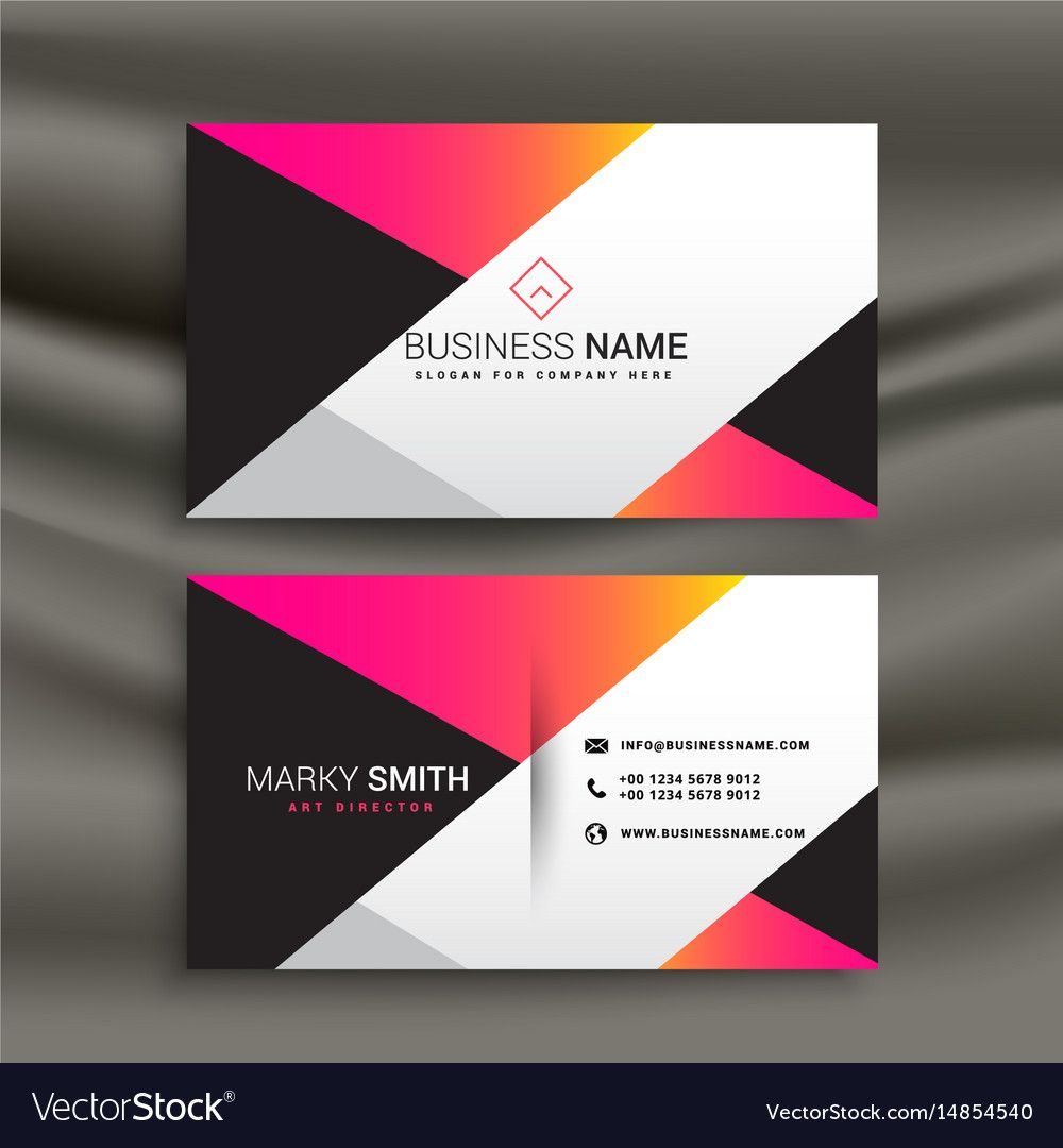 The Enchanting Creative Bright Business Card Design Template For Calling Card Free Template Business Card Template Design Calling Card Design Name Card Design