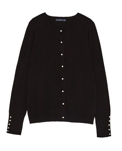 d4eadc9b KNIT CARDIGAN WITH FAUX PEARL BUTTON-View all-KNITWEAR-WOMAN | ZARA United