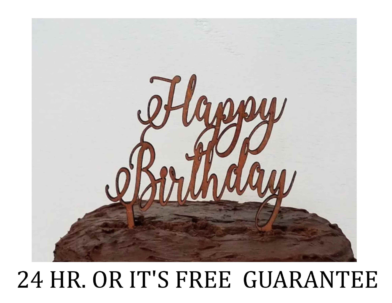 Happy birthday cake topper first birthday cake topper
