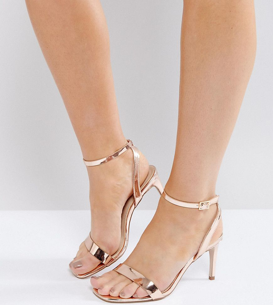 893a504f0b7 ASOS HIDEAWAY Wide Fit Heeled Sandals - Beige