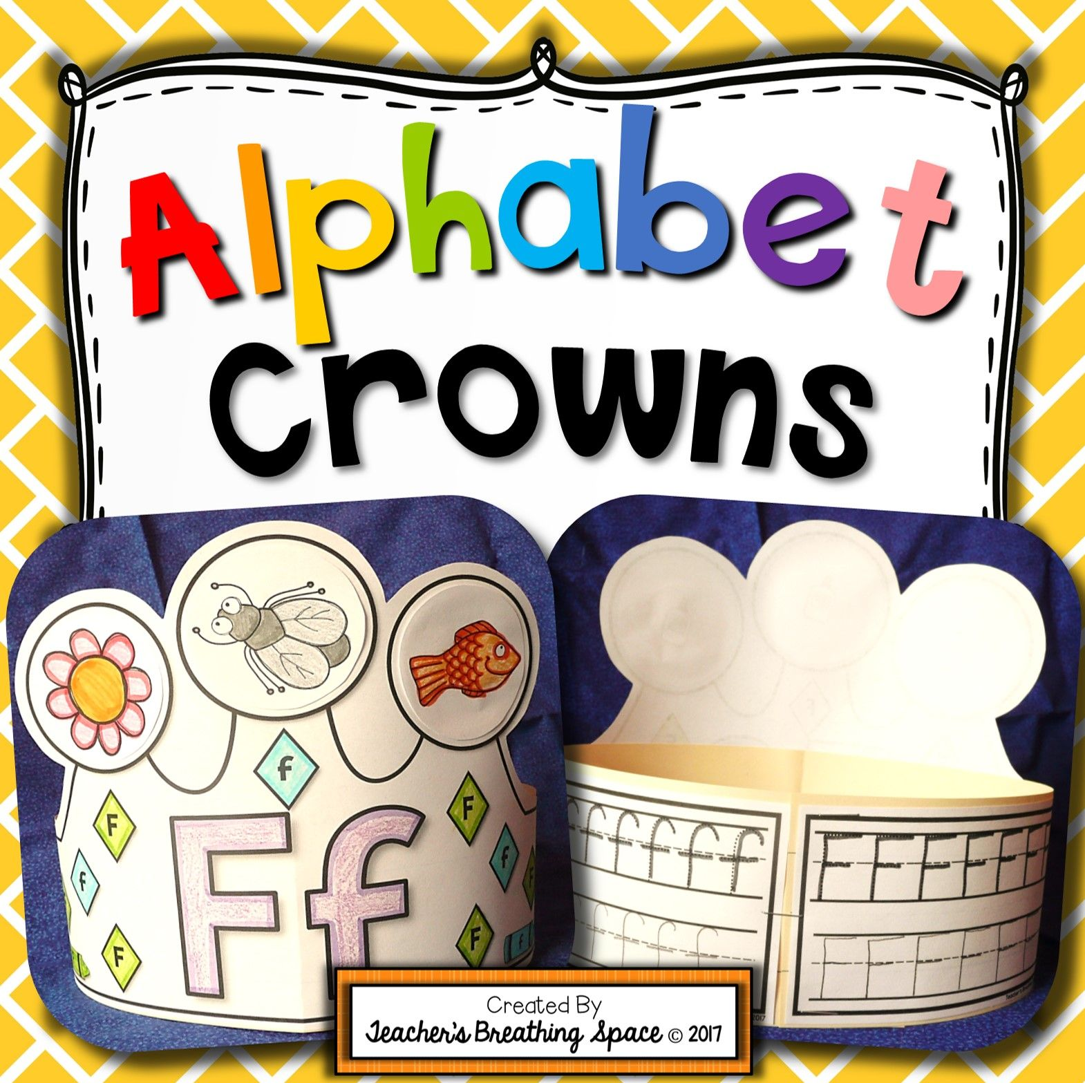 Alphabet Crowns Interactive Alphabet Hats From A To Z