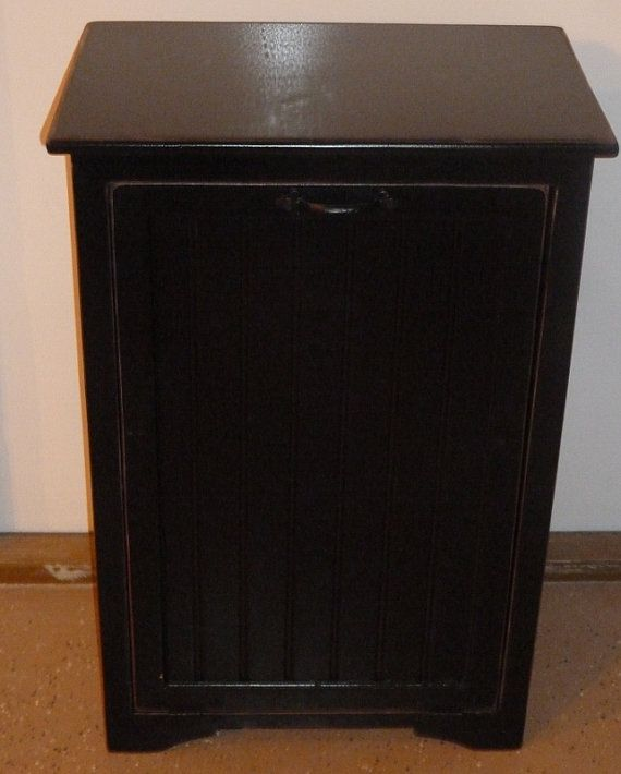Trash Cabinet + Microwave Stand. I Would Love Something Like This To Get  Our Microwave