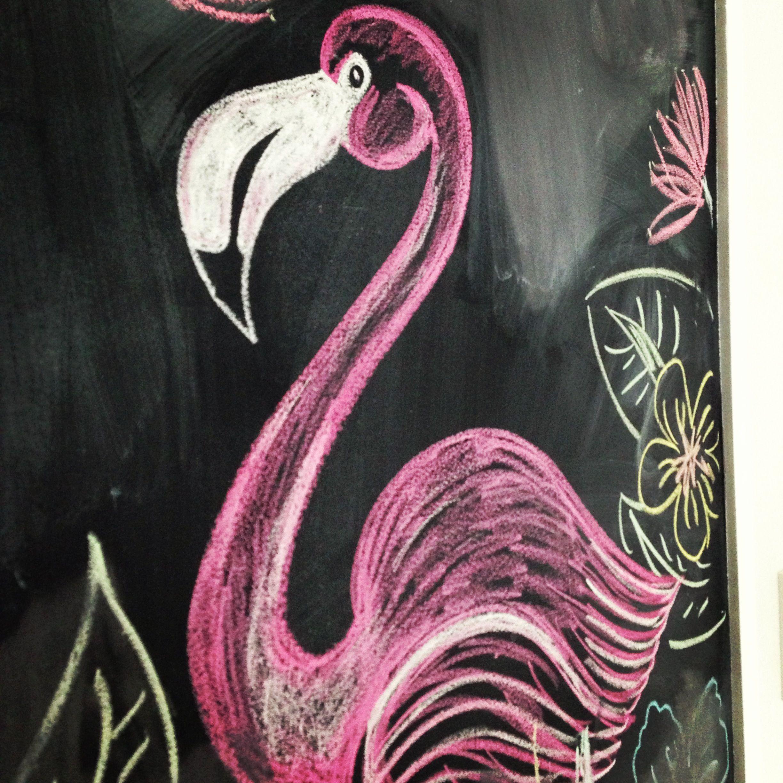 Flamingo chalk board art | Chalk Art | Pinterest | Board art ...