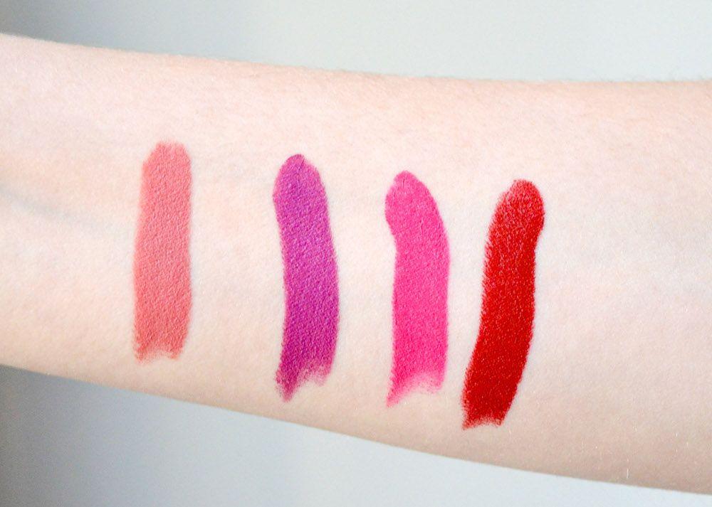 NARS Audacious Lipstick Review & Swatches: Kate, Apoline, Stefania, Shirley