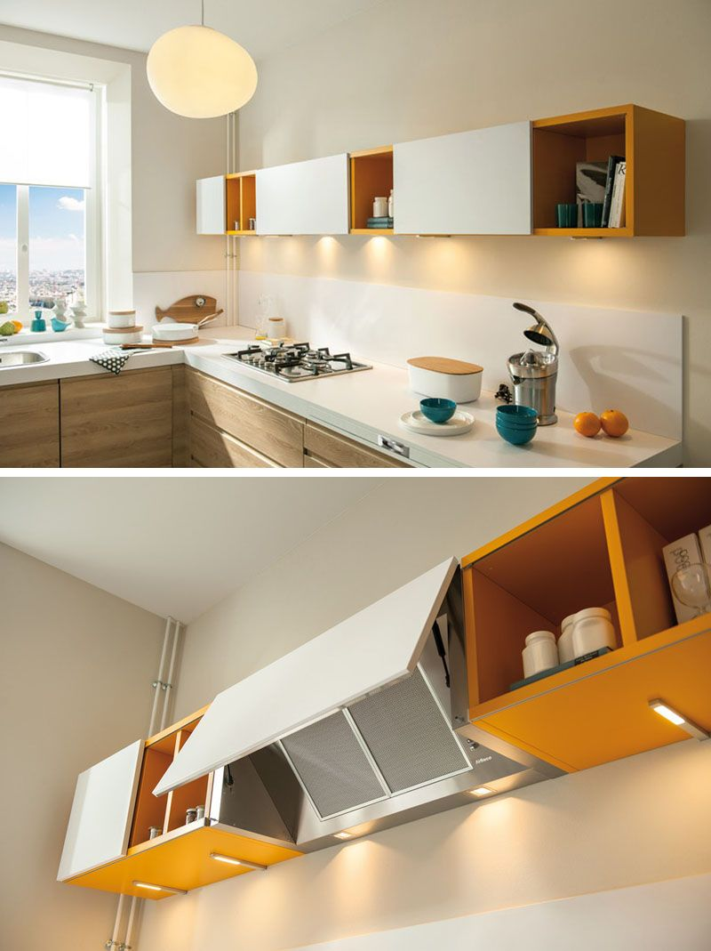 Kitchen Design Idea - Hide The Range Hood | Design, Giallo e ...