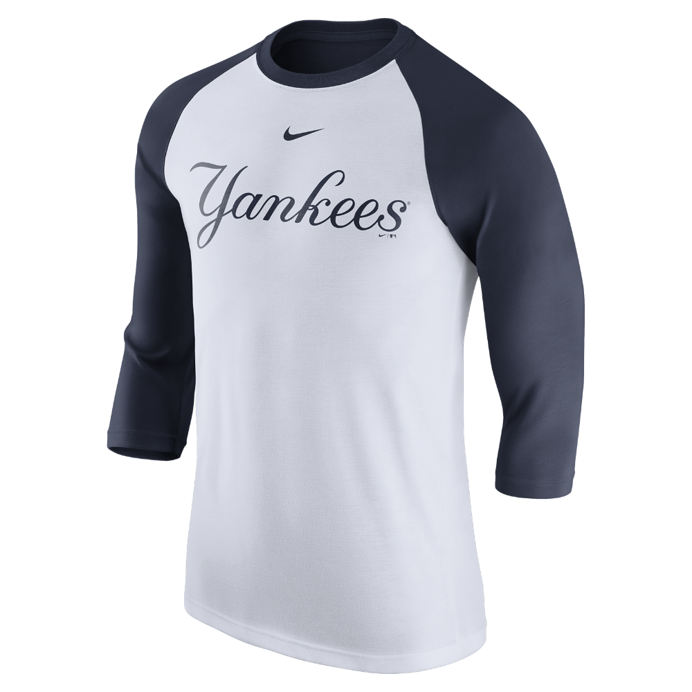 5530acdda Nike (MLB Yankees) Men's 3/4 Sleeve Shirt Size Medium (White ...