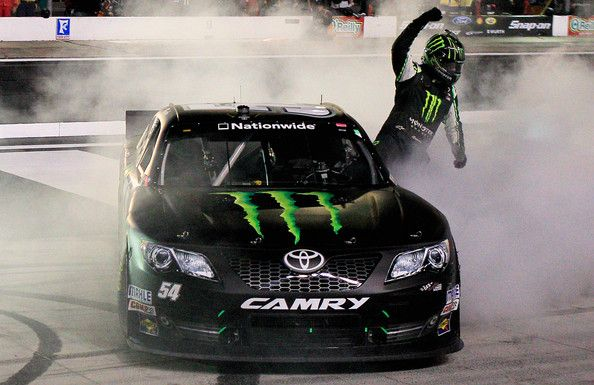 Kyle Busch Burnouts Does No Hands Burnout After Winning Nationwide Series Race