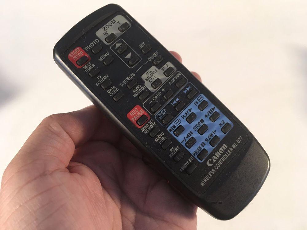TESTED WORKING Canon Wireless Controller WL-D77 Mini DV