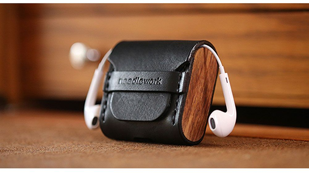 Airpod Case Airpods 2 3 Cover Handmade Hand Stitched Genuine Leather Skin For Men Brown Green Color Prot Apple Airpods 2 Wood Accessories Iphone Accessories