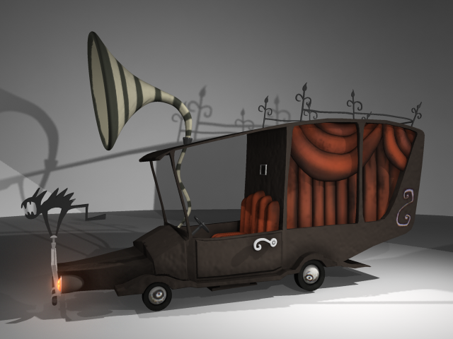 Mayors Hearse- Nightmare Before Christmas. Maya, Photoshop. | 3D ...