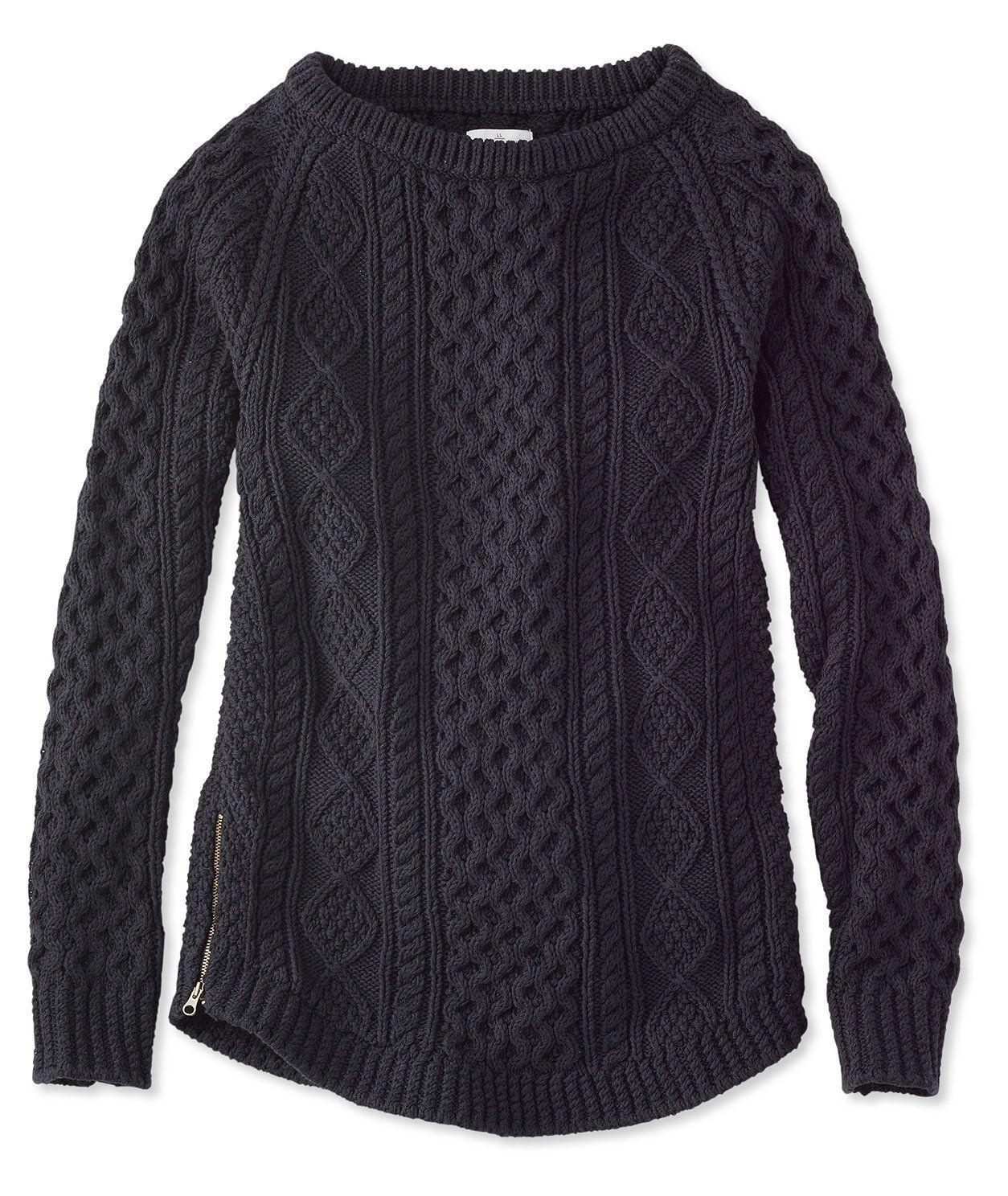 Signature Cotton Fisherman Tunic Sweater | WOMEN'S FALL FASHIONS ...