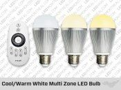 lightbulb changes from cool to warm.  with remote.