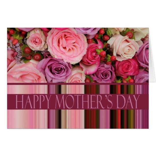 """Happy Mother's Day rose card  Mother's Day ... that special day to cover your mom ( and grandma, mother in law or other special person) in love and attention and ....ROSES! Send her a special Mother's Day card created by therosegarden. Many different designs available. For most cards you can find a matching envelope too. Browse the store or search for """"therosegardenmother""""."""
