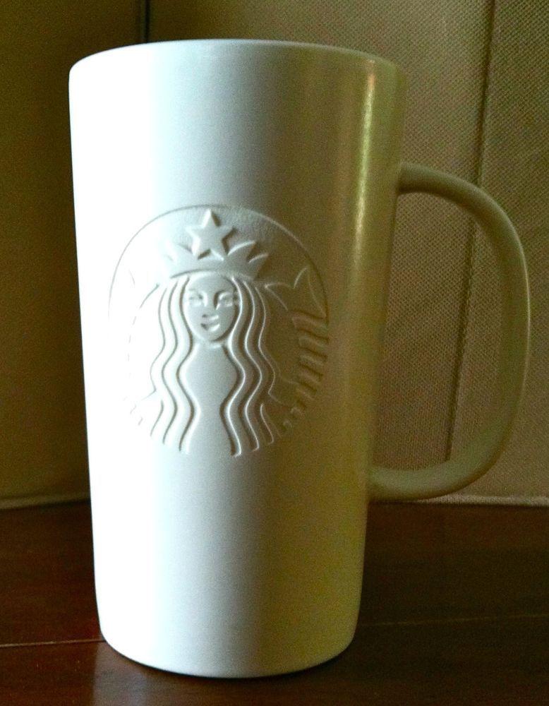 382f01da399 2014 Starbucks Tall Tea Coffee Mug Cup White Engraved Siren Two-Tailed  Mermaid #Starbucks