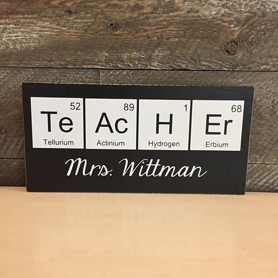 teacher sign science teacher gift christmas gift for teacher periodic table geek