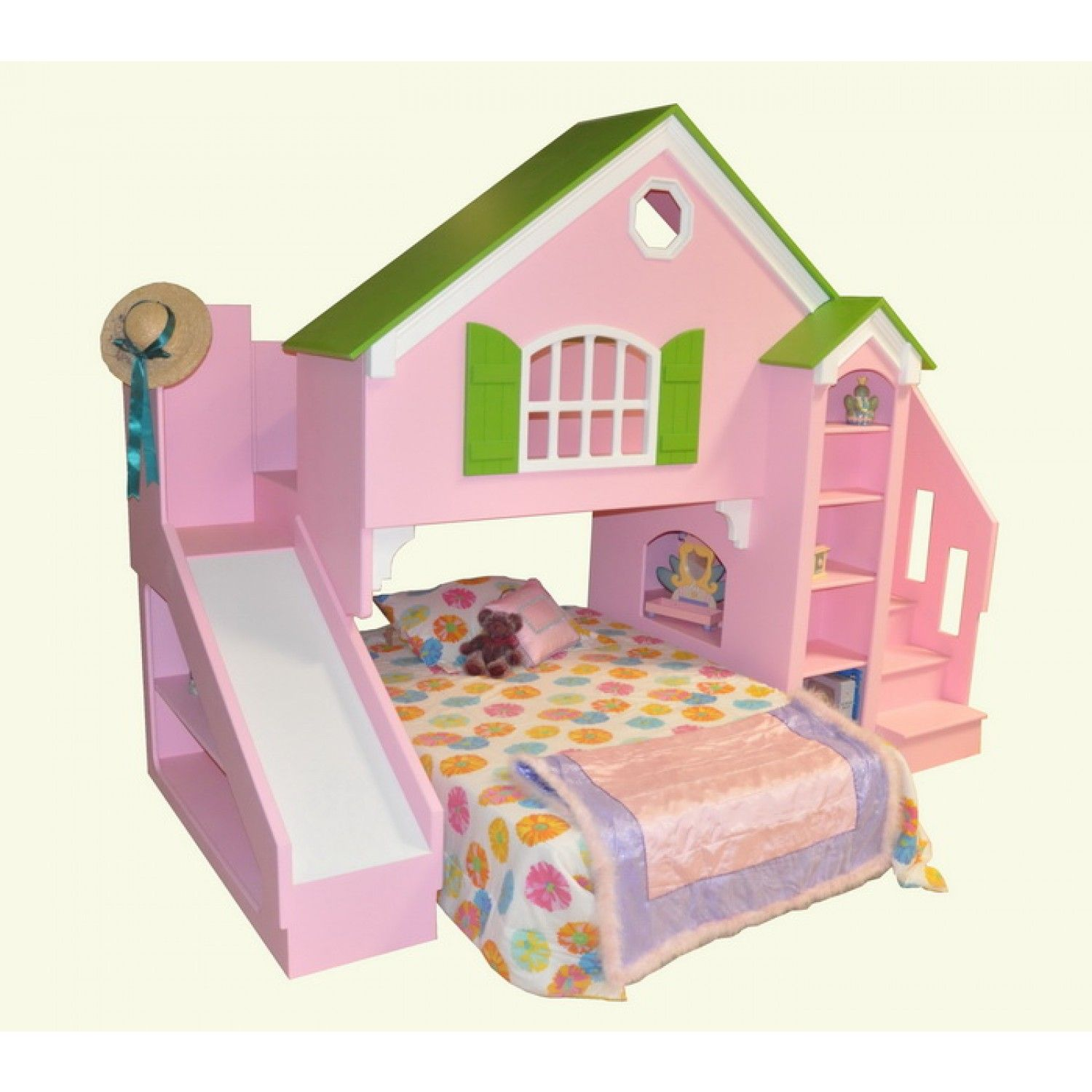 Bunk beds with slide and stairs - Dollhouse Bunk Bed With Slide Do You Like Disney S Tsum Tsum Plush Toys Visit