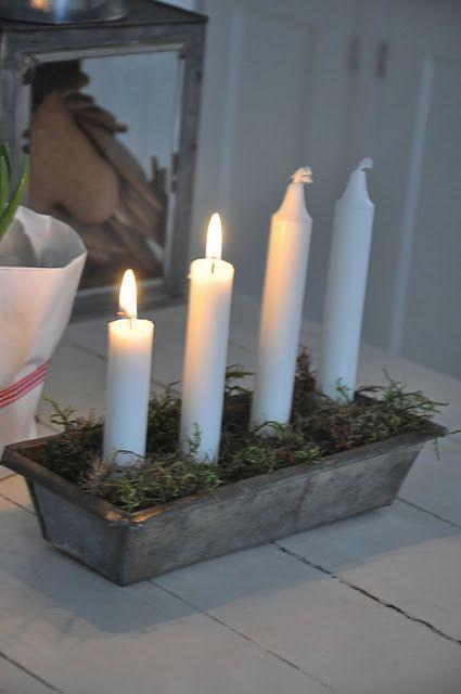 Scandinavian Advent Candle Idea Kerst Kerst Thuis Kerstmis