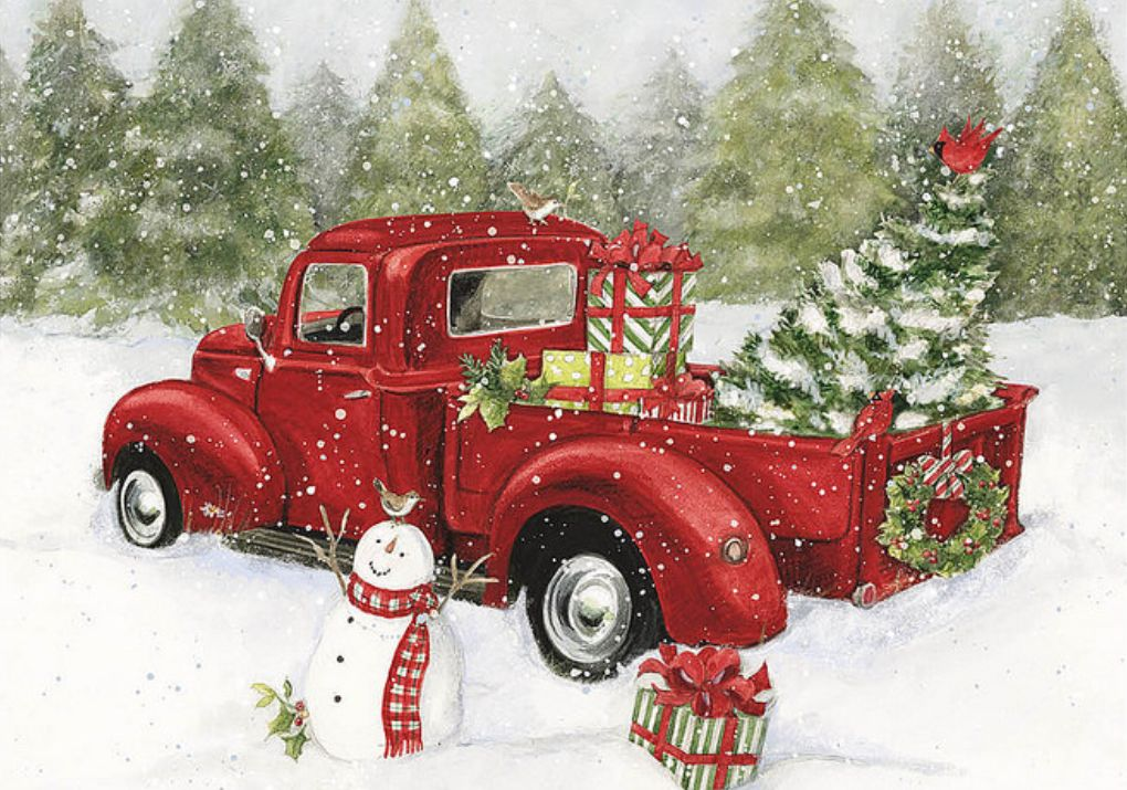 Christmas Truck With Images Christmas Red Truck