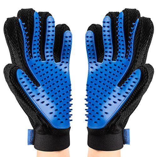 Pet Grooming Glove, [Upgraded Version] OMorc Gentle