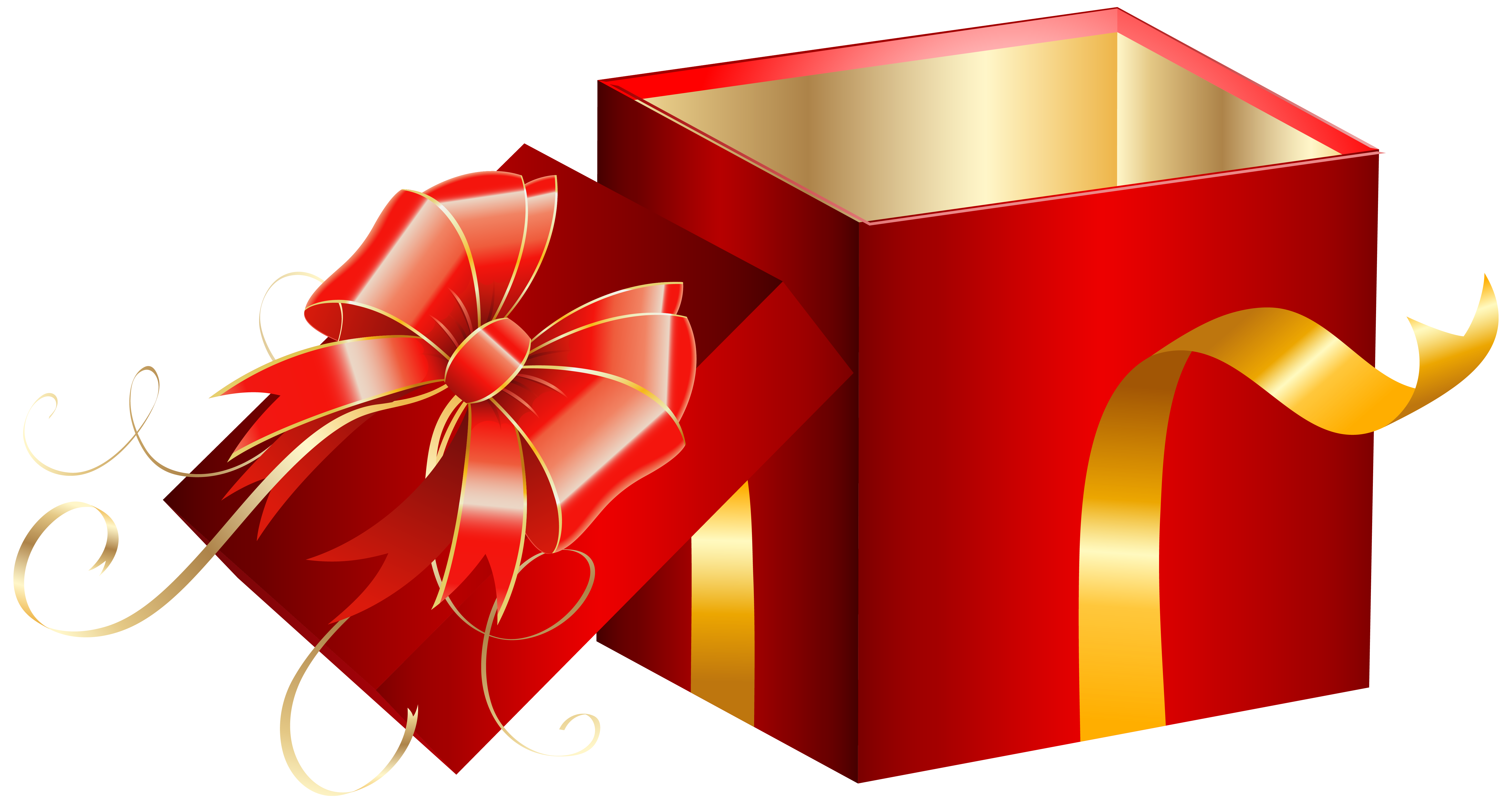 Opened Red Gift Box Png Clipart Image Gallery Yopriceville High Quality Images And Transparent Png Free Clipart Red Gift Box Gifts Red Gift