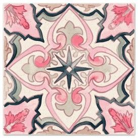Spanish Tile No2 in Rosa inventory Pinterest