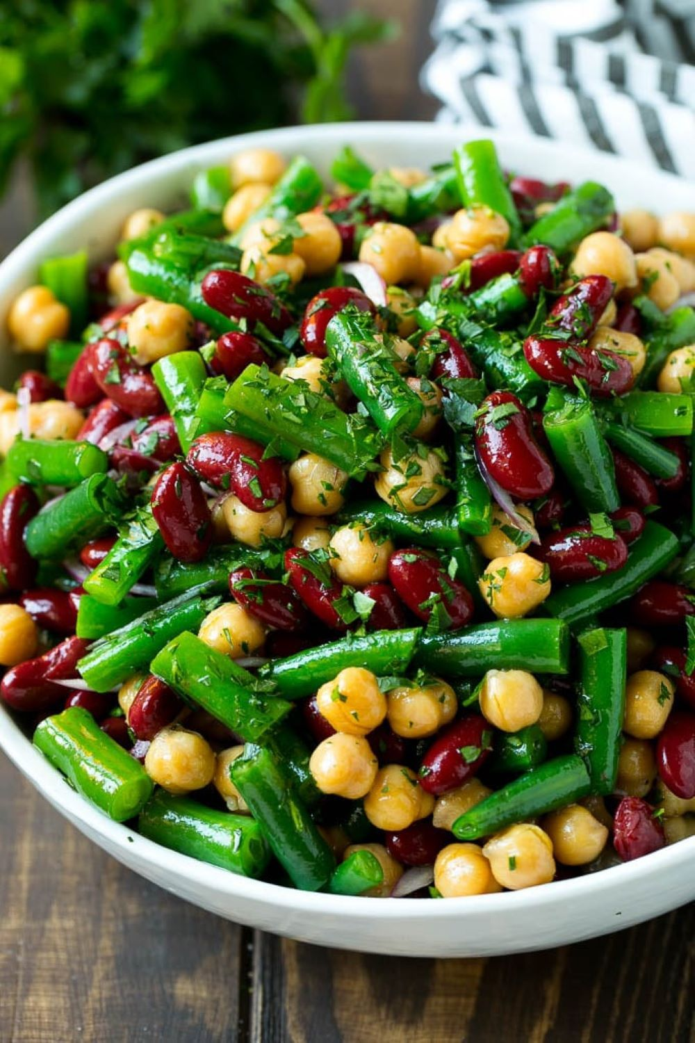 Marinated Green Bean Salad Recipe In 2020 Green Bean Dishes Three Bean Salad Bean Salad Recipes