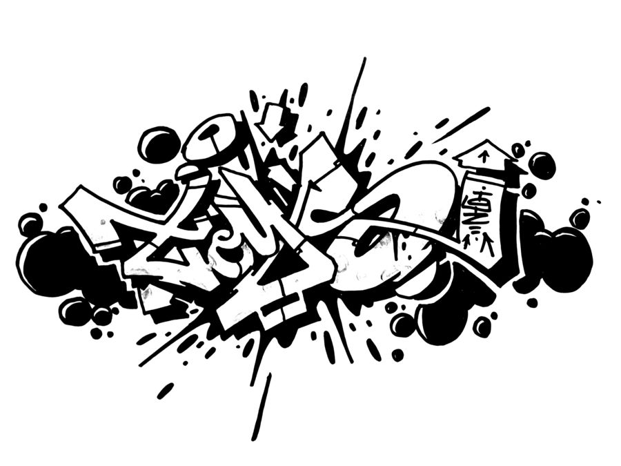 Graffiti Blackbook Sketches Clipart Black And White Graffiti