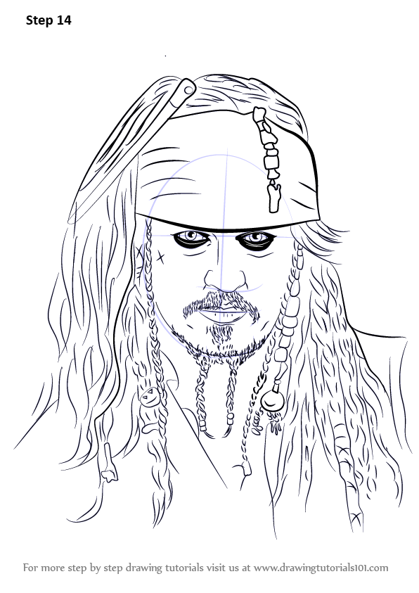 Learn How to Draw Captain Jack Sparrow (Characters) Step
