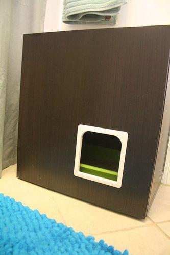 Litter box cabinet hack | Flickr - Photo Sharing!