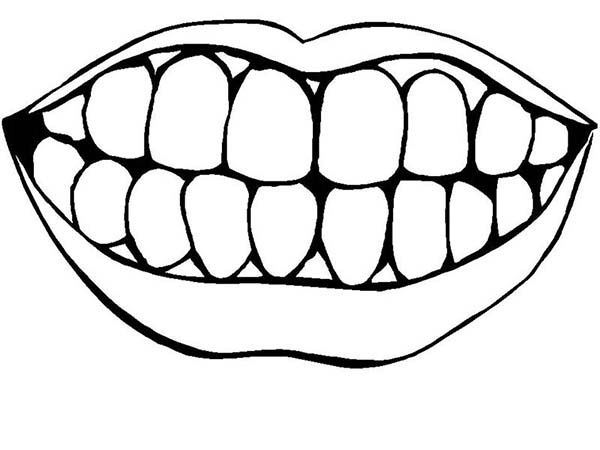 teeth coloring page # 4