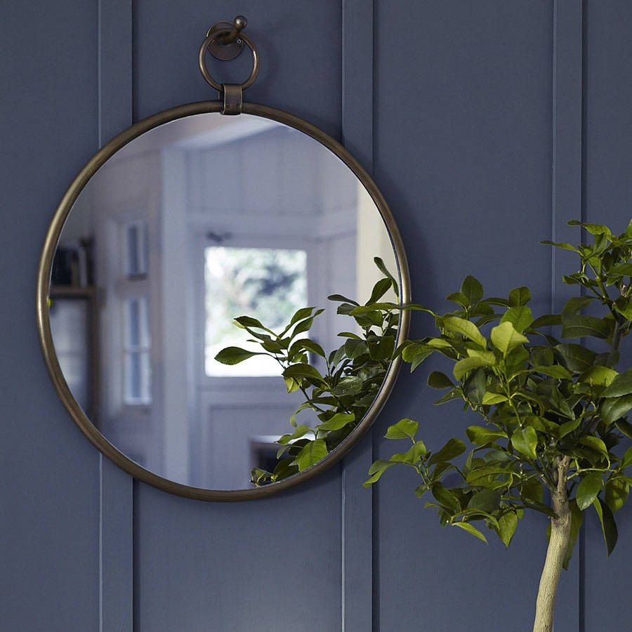 Indar Hanging Mirror And Hook Brass Hanging Mirror Mirror With Hooks Mirror