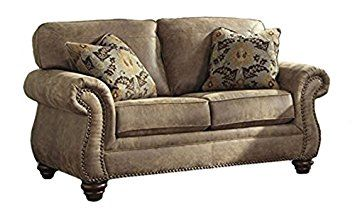 Ashley Faux Leather Sofa Reviews Parker American Furniture Signature Design Larkinhurst Traditional Loveseat Weathered Earth Review