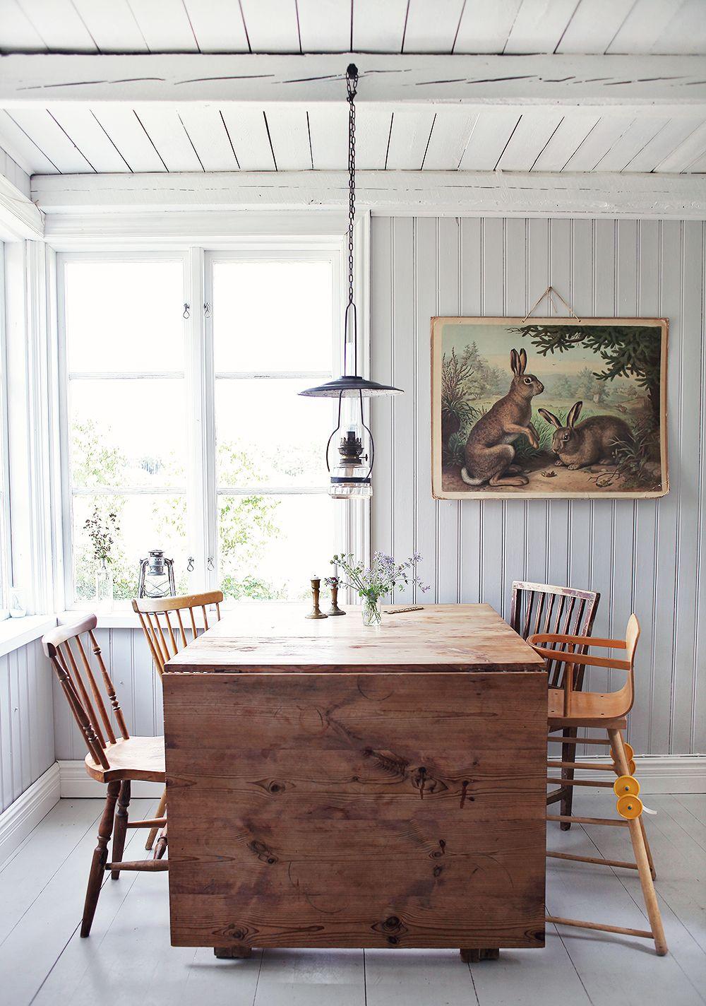 torp, kök, öppna hyllor, inredning, gotland, vintage, retro, bord