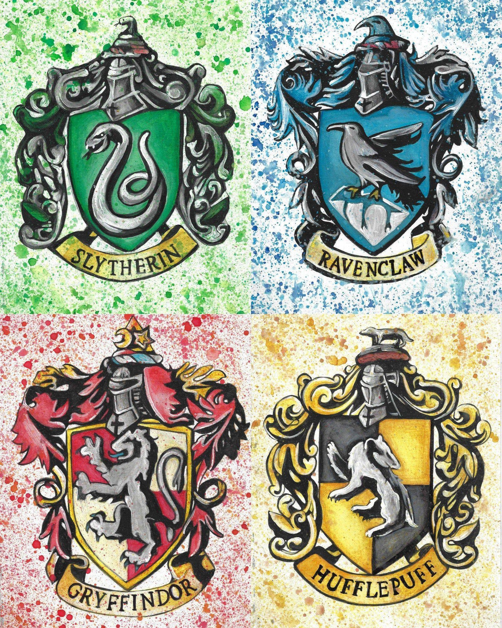 Harry Potter Hogwards House Gryffindor Hufflepuff Etsy
