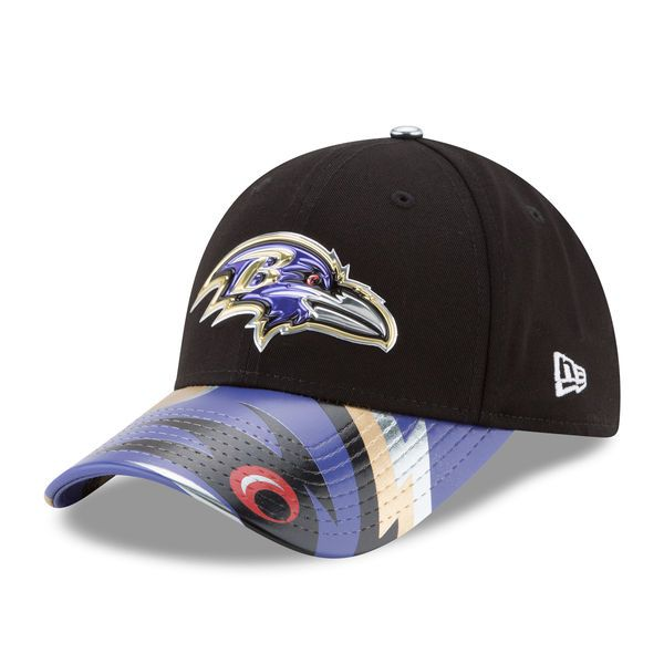 Baltimore Ravens New Era Women s 2017 NFL Draft On Stage 9FORTY Adjustable  Hat - Black - a9972b192