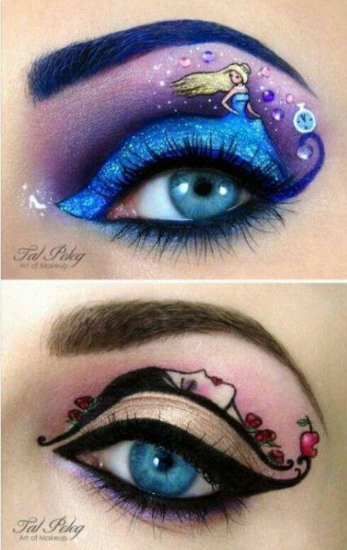 Cinderella Eyeshadow And Sleeping Beauty Eyes Art Eye Makeup In