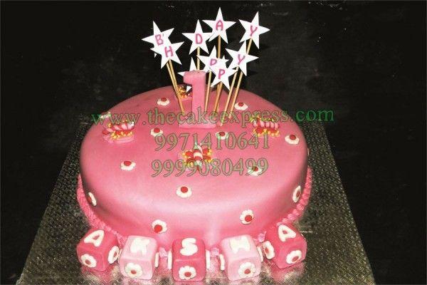 Girls First Birthday Cake Theme Cakes Delhi Birthday
